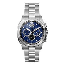 Buy Bulova 96B219 Men's Dress Chronograph Bracelet Watch, Silver/Blue Online at johnlewis.com