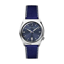 Buy Bulova 96B212 Men's Accutron II Leather Band Watch, Blue Online at johnlewis.com
