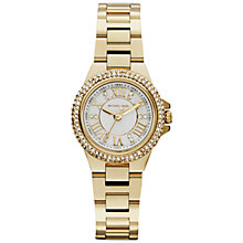 Buy Michael Kors MK3252 Women's Mini Camille Stainless Steel Bracelet Strap Watch, Gold Online at johnlewis.com