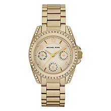 Buy Michael Kors MK5639 Women's Mini Chronograph Blair Watch, Gold Online at johnlewis.com