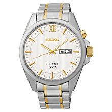 Buy Seiko SMY161P1 Men's Core Kinetic Watch, Silver/Gold Online at johnlewis.com
