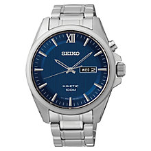 Buy Seiko SMY159P1 Men's Core Kinetic Watch, Silver/Blue Online at johnlewis.com