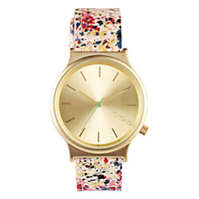 Buy Komono KOM-W1820 Unisex Wizard Print Series Leather Strap Watch, Expressionist Online at johnlewis.com