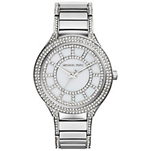 Buy Michael Kors MK3311 Women's Kerry Diamante Stainless Steel Bracelet Strap Watch, Silver Online at johnlewis.com