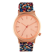 Buy Komono KOM-W1825 Unisex Wizard Print Series Leather Strap Watch, French Garden Online at johnlewis.com