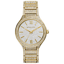 Buy Michael Kors MK3360 Women's Kerry Gold Plated Crystal Watch, Gold Online at johnlewis.com