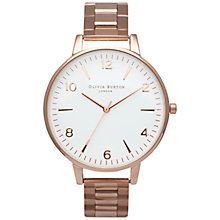 Buy Olivia Burton OB14EX36 Women's Big Dial Watch, Rose Gold/White Online at johnlewis.com