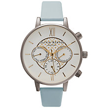 Buy Olivia Burton OB15CG43 Women's Chronograph Detailed Watch, Powder Blue/Silver Online at johnlewis.com