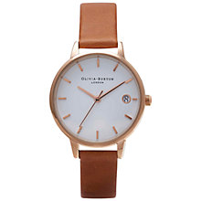 Buy Olivia Burton Women's The Dandy Leather Strap Watch Online at johnlewis.com