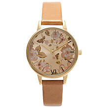 Buy Olivia Burton OB15PL20 Women's Parlour Leather Strap Watch, Camel Online at johnlewis.com