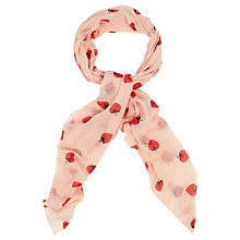 Buy Oasis Strawberry Print Scarf, Pink Online at johnlewis.com
