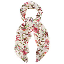Buy Oasis Primrose Print Scarf, Multi Natural Online at johnlewis.com