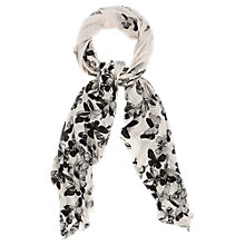 Buy Oasis Scatter Butterfly Scarf, Black/White Online at johnlewis.com