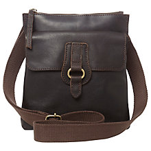 Buy White Stuff Hannah Leather Across body Bag, Hazelnut Online at johnlewis.com