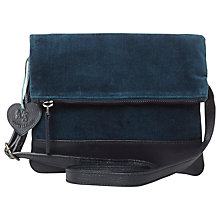 Buy White Stuff Velvet Lizzie Cross Body Bag, Teal Online at johnlewis.com