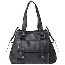 Buy White Stuff Sarah Smart Leather Work Bag, Navy Blue Online at johnlewis.com