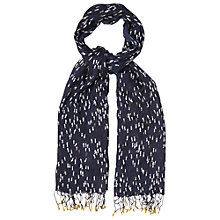 Buy White Stuff Little Fishy Scarf, Navy Online at johnlewis.com