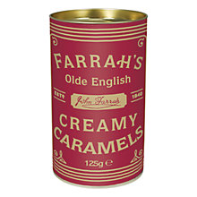 Buy Farrah's Creamy Caramels Drum, 125g Online at johnlewis.com