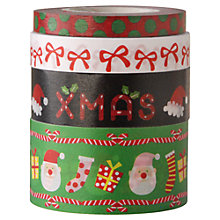 Buy Rico Christmas Santa Print Tape, Pack of 4, Multi Online at johnlewis.com