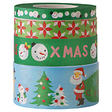 Buy Rico Christmas Tree Print Tape, Pack of 4, Green/Multi Online at johnlewis.com