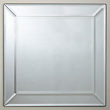 Buy John Lewis Bevel Simple Mirror, 50 x 50cm Online at johnlewis.com