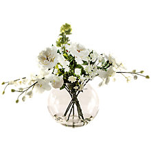 Buy Peony White Rose, Astrantia, Orchid and Snowball in Vase Online at johnlewis.com