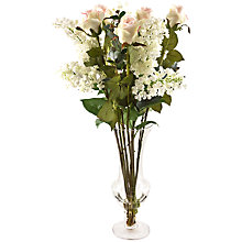 Buy Peony Roses In Goblet Vase, Peach Online at johnlewis.com