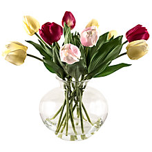 Buy Peony Tulips in Fluted Glass Bowl, Multi Online at johnlewis.com