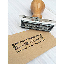 Buy StompStamps Personalised Family Christmas Signature Stamp Online at johnlewis.com