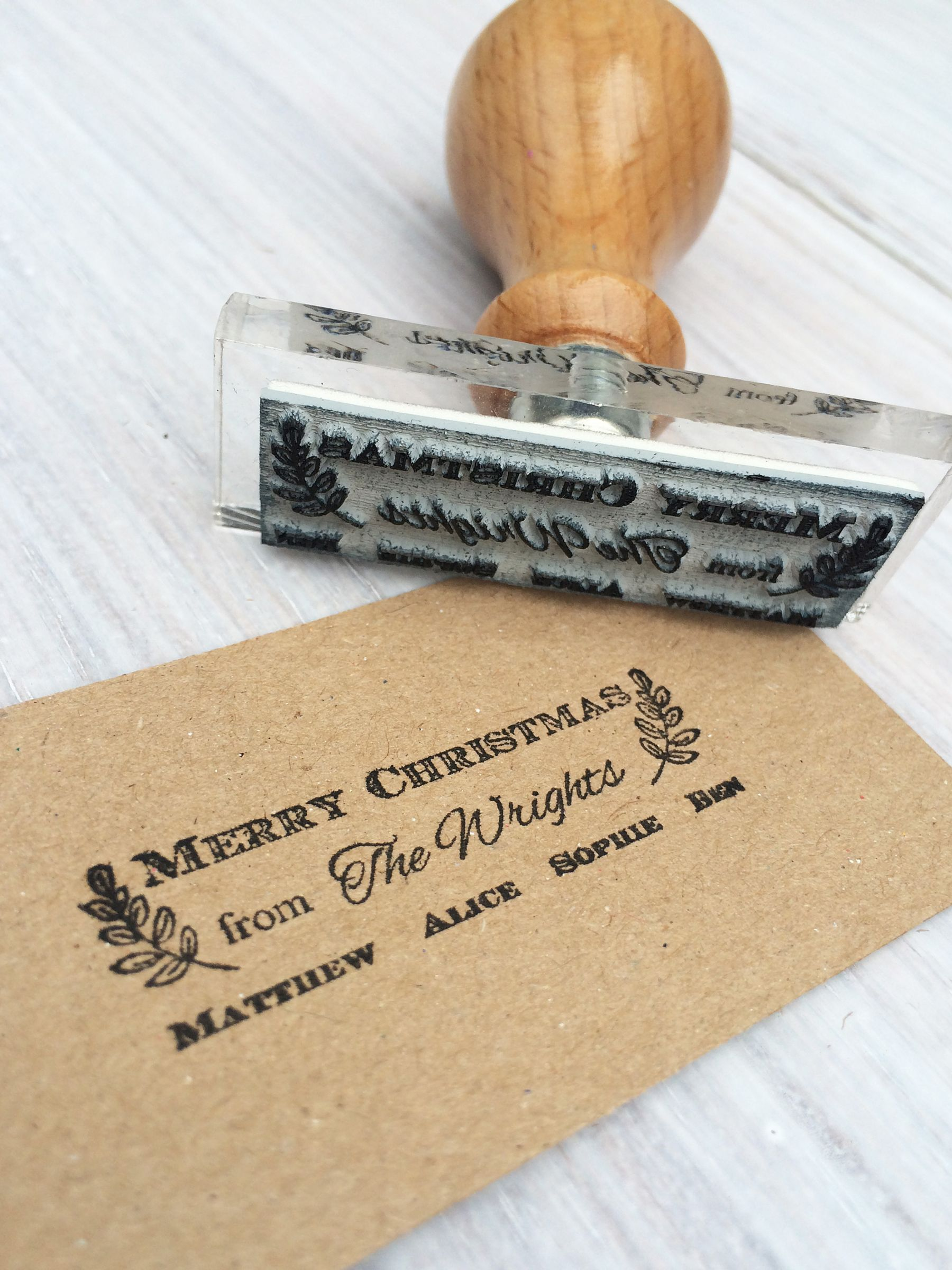 StompStamps StompStamps Personalised Family Christmas Signature Stamp