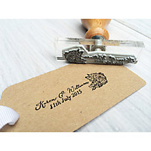 Buy StompStamps Personalised Flowers Wedding Stamp Online at johnlewis.com