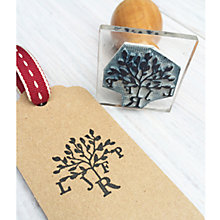 Buy StompStamps Personalised Family Tree Monogram Stamp Online at johnlewis.com
