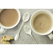 Buy Cutlery Commission Silver-Plated Personalised Teaspoon Set Online at johnlewis.com