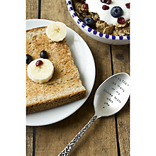 Buy Cutlery Commission Silver-Plated Personalised Desert Spoon Online at johnlewis.com