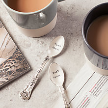 Buy Cutlery Commission Silver-Plated Mum's Spoon Teaspoon Online at johnlewis.com