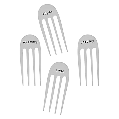 Cutlery Commission Sawn-off Silver-Plated Herb Markers