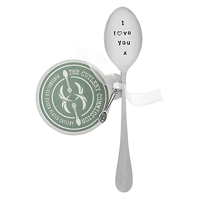 Cutlery Commission Silver-Plated 'I Love You' Teaspoon