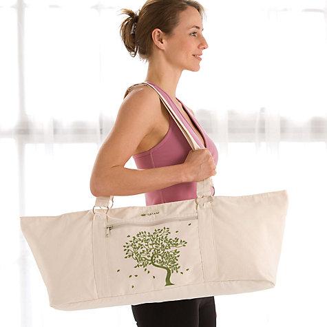 Buy Gaiam Tree Of Life Canvas Mat Bag Natural Cream