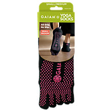 Buy Gaiam No-Slip Yoga Socks, One Size, Black/Pink Online at johnlewis.com