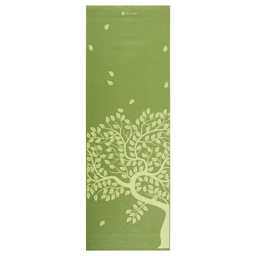 Gaiam Tree of Life Printed Yoga Mat, Green