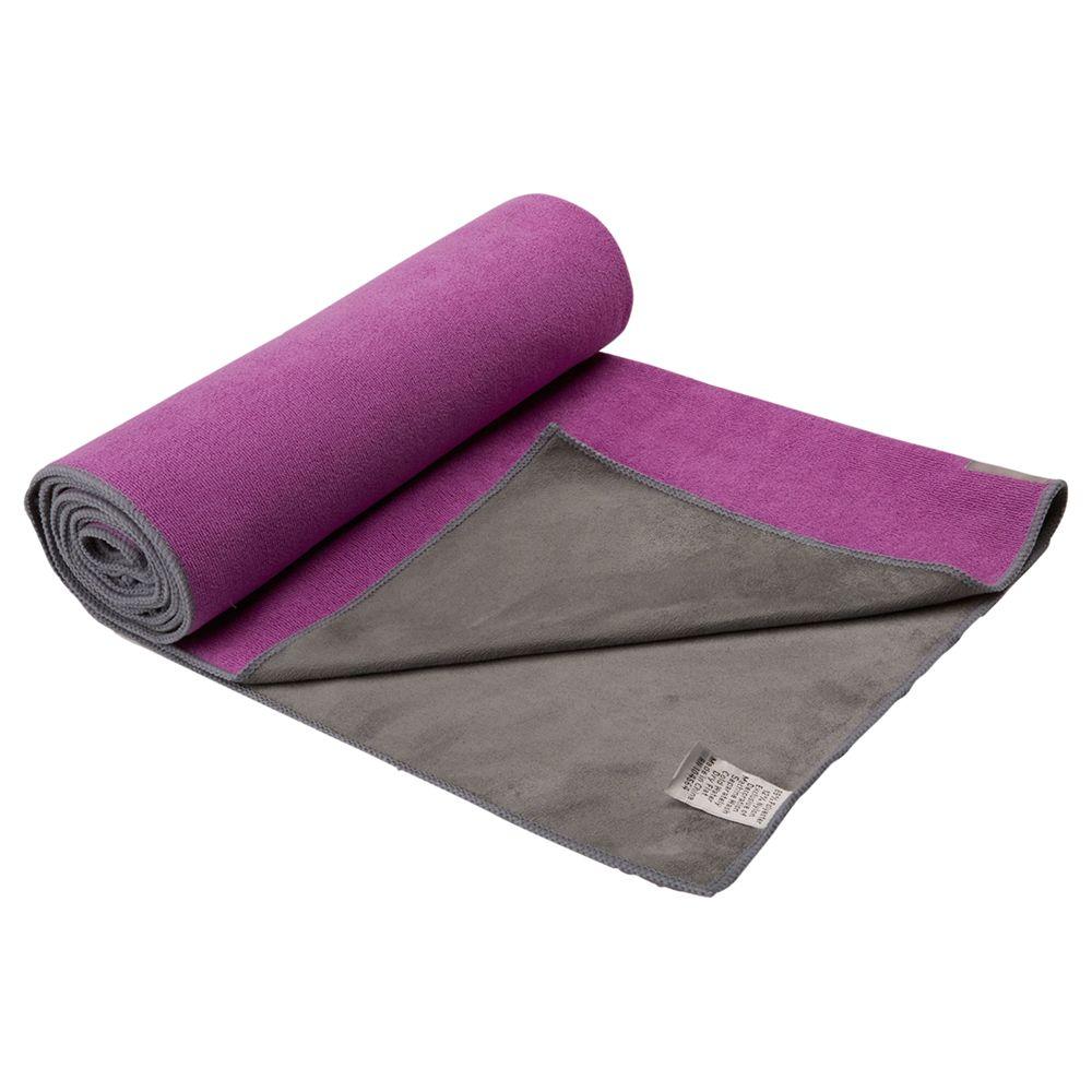 Gaiam Gaiam Dual Grip Yoga Towel, Purple/Grey