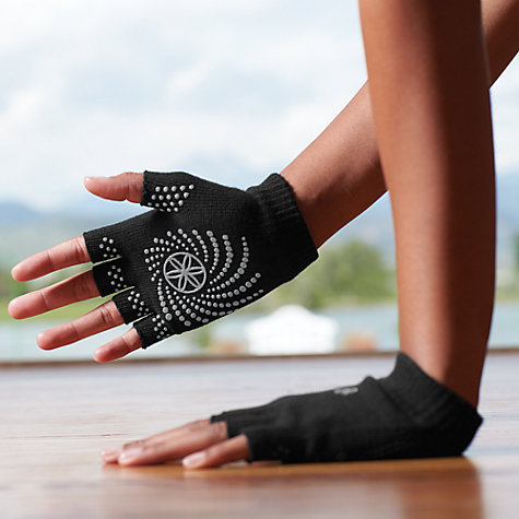Buy Gaiam Super Grippy Yoga Gloves One Size Black Pink