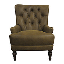 Buy John Lewis Durham Leather Armchair, Jin Brown Online at johnlewis.com