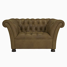 Buy John Lewis Cambridge Aniline Leather Snuggler, Jin Brown Online at johnlewis.com