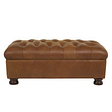 Buy John Lewis Cambridge Semi-Aniline Leather Footstool, Outback Ranch Online at johnlewis.com