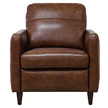 Buy John Lewis Dalston Semi-Aniline Leather Armchair, Earth Bronx Online at johnlewis.com