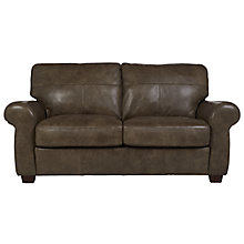 Buy John Lewis Hampstead Medium Leather Sofa, High Plain Bronx Online at johnlewis.com