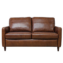 Buy John Lewis Dalston Semi-Aniline Leather Small Sofa, Earth Bronx Online at johnlewis.com