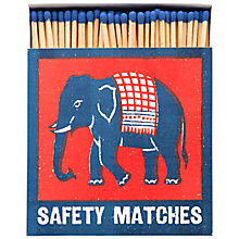 Buy Archivist Elephant Luxury Long Matches, Red/Blue Online at johnlewis.com