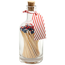 Buy Archivist Striped Jar of Matches, Multi Online at johnlewis.com